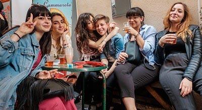 Italienske piger og smørrebrød